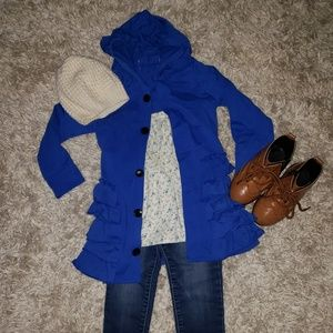Other - Girls Royal blue boutique hoodie / jacket 2T